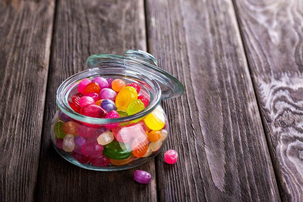 Candy in a jar