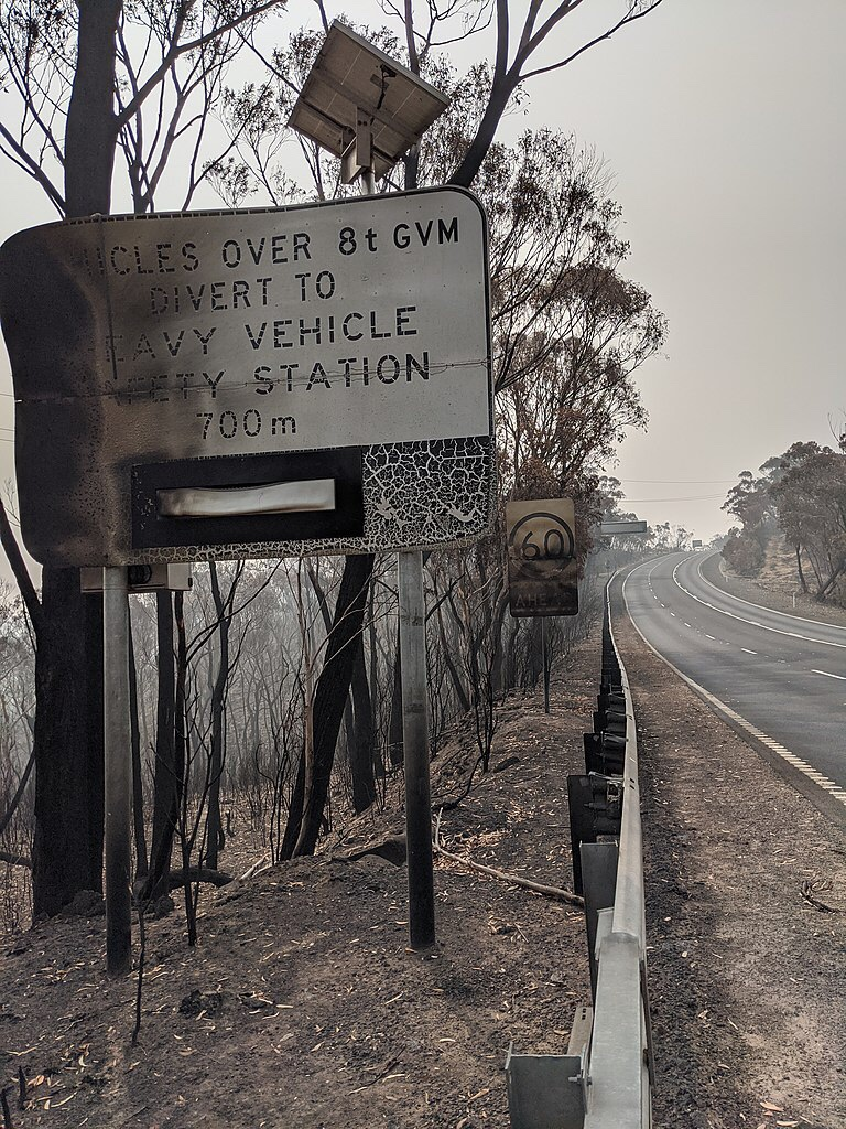 Bushfire damage, Bells Line of Road, Jan 2020