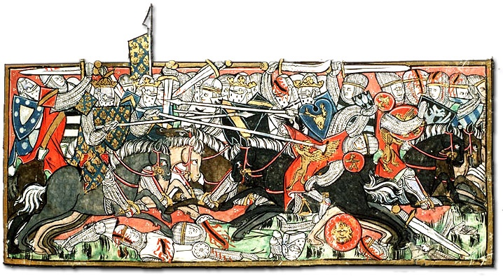 Illustration of battle, dated 1325-1335, author unknown
